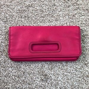 Coach Legacy Hot Pink Leather Foldover Clutch